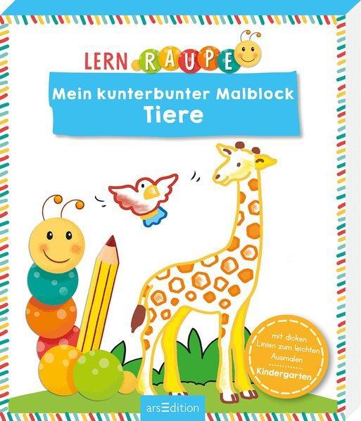 Lernraupe - Mein kunterbunter Malblock Tiere (Mängelexemplar)