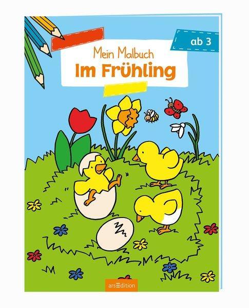 Malbuch ab 3 - Im Frühling (Mängelexemplar)