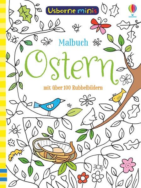 Usborne Minis - Malbuch: Ostern - mit über 100 Rubbelbildern (Mängelexemplar)