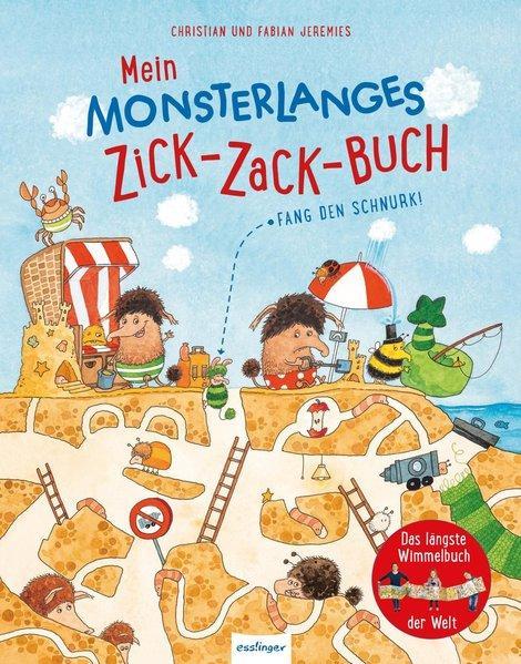 Mein monsterlanges Zick-Zack-Buch: Fang den Schnurk! - Das längste Wimmelbuch der Welt