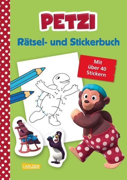 Petzi: Rätsel- und Stickerbuch - zur Fernsehserie