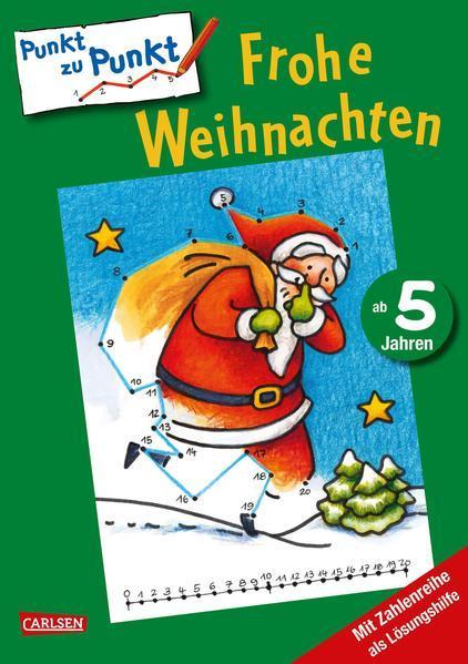 Von Punkt zu Punkt: Weihnachten - Zahlen-Rätsel von 1 bis 20