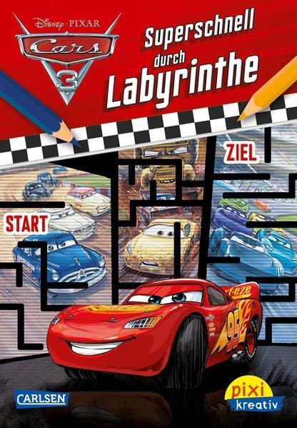 Pixi kreativ 113: Disney Cars 3 - Superschnell durch Labyrinthe (Mängelexemplar)