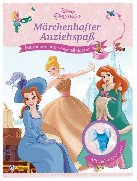 Disney Prinzessin: Märchenhafter Anziehspaß - Mit Ausmalbildern und vielen Stickern