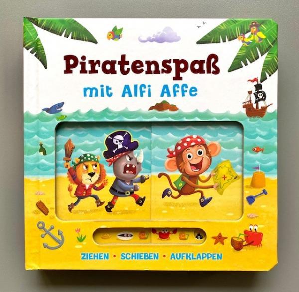 Piratenspaß mit Alfie Affe - Ziehen, Schieben, Aufklappen (Mängelexemplar)