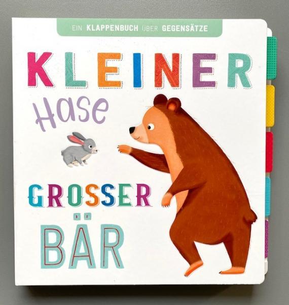 Kleiner Hase, großer Bär - Klappenbuch über Gegensätze (Mängelexemplar)