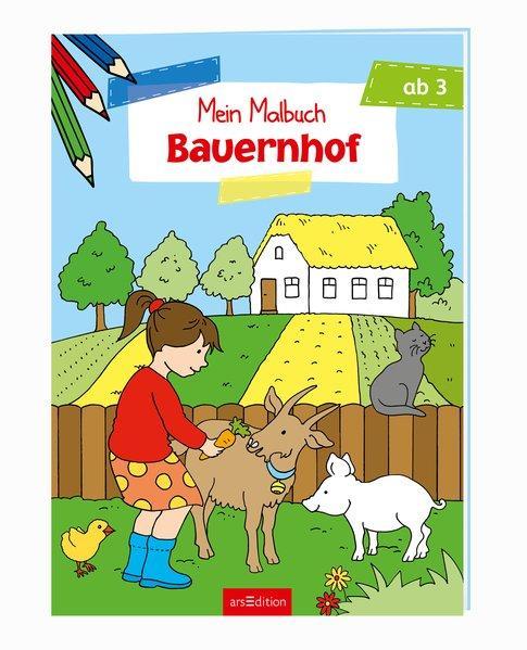 Malbuch ab 3 Jahren - Bauernhof (Mängelexemplar)