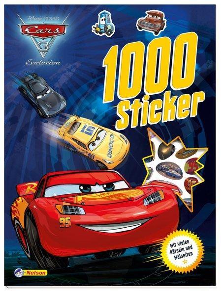 Disney Cars 3: 1000 Sticker - Mit vielen Rätseln und Malseiten (Mängelexemplar)