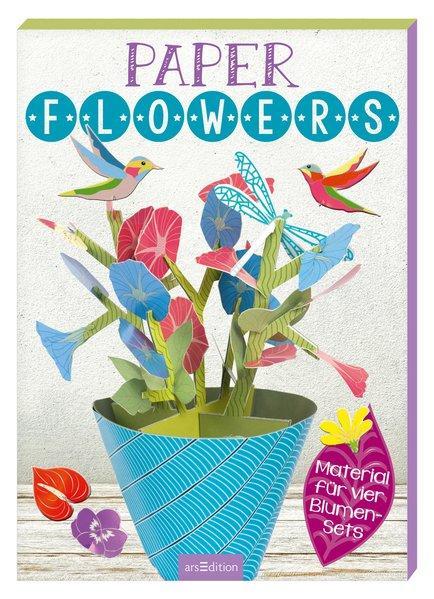 Paper-Flowers - mit Material für 4 Blumen-Sets