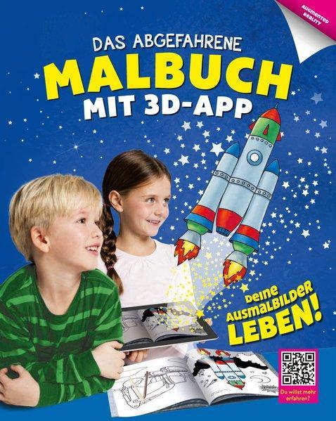 Das abgefahrene Malbuch mit 3D-App (Mängelexemplar)